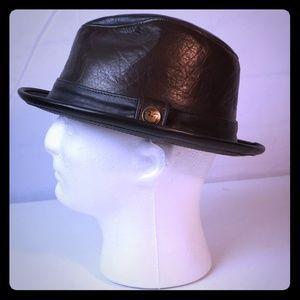 Vintage Goorin Brothers Men's Leather Fedora Hat